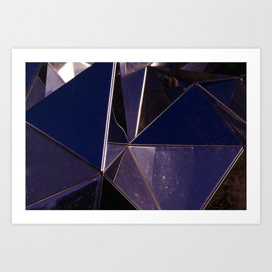 Abstract Glass Pattern Art Print