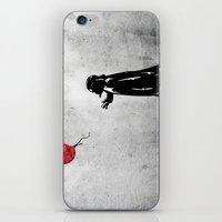 banksy iPhone & iPod Skins featuring Little Vader - Inspired by Banksy by kamonkey