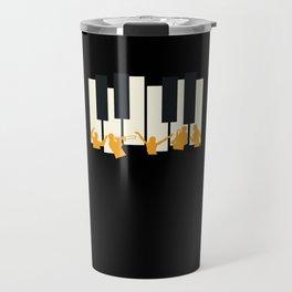 Jazz Piano Musician Saxophone Travel Mug