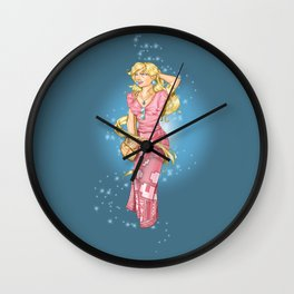 Casual Peach Wall Clock