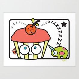 cupcake unicorn print Art Print
