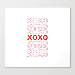 XOXO take-out inspired print Canvas Print
