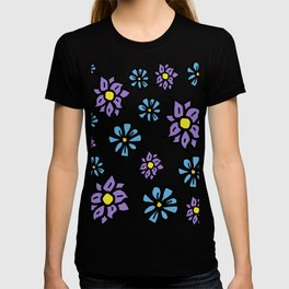 Lavenders and Blues - floral T-shirt