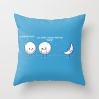 moon phase Throw Pillows featuring Phase by Azaikar