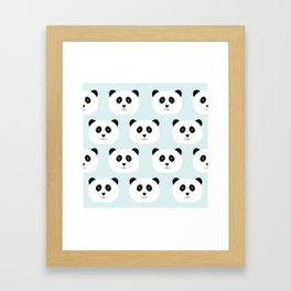 Panda Love- Mint Blue Framed Art Print