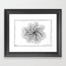 Jellyfish Star I B&W Framed Art Print