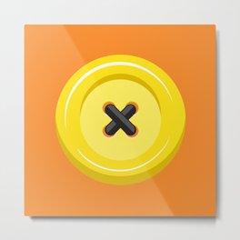 Button Up! Orange Metal Print