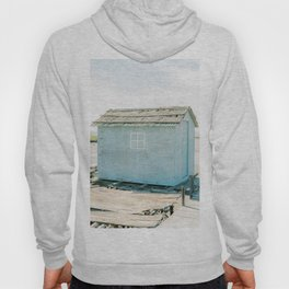 Old Blue Fisher House   Fine Art Travel Photography   Shot in Comporta , Portugal Hoody
