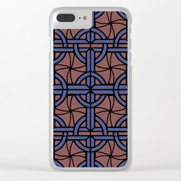 Stained Glass - Blue and Red Clear iPhone Case