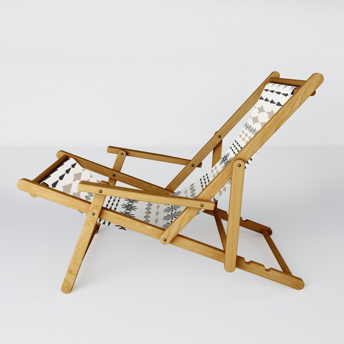 Nordic winter pattern Sling Chair