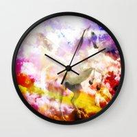 unicorn Wall Clocks featuring Unicorn  by haroulita