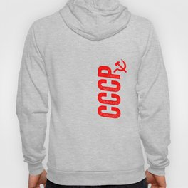 CCCP Red Soviet Union Russian KGB Hammer And Sickle Hoody