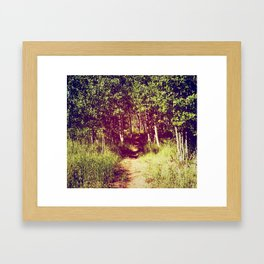 Narrow is the Path Framed Art Print