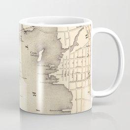 Vintage Map of New Bedford MA (1871) Coffee Mug