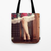 girly Tote Bags featuring Girly. by Lívia Fernandes
