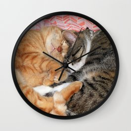 Nap Buddies Wall Clock