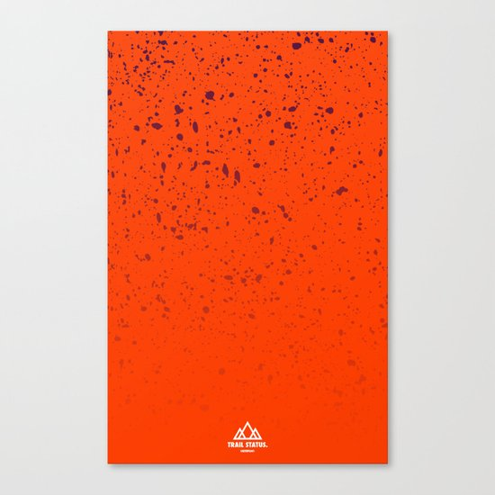 Trail Status / Orange Canvas Print