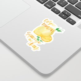 Carpe Lemon : Squeeze the Day Sticker