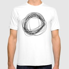 cs LARGE Mens Fitted Tee White