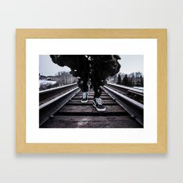Dark Smoke Framed Art Print