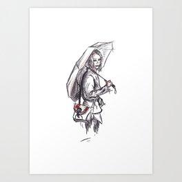 Under my umbrella Art Print