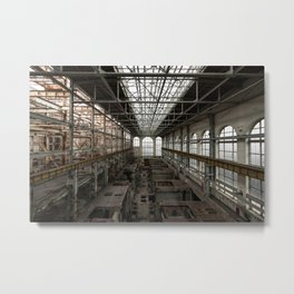 The Chelsea Monster, abandoned power station Metal Print