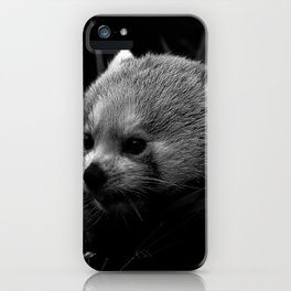 Awesome B&W red Panda iPhone Case