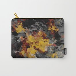 Yellow / Golden Abstract / Surrealist Landscape Painting Carry-All Pouch