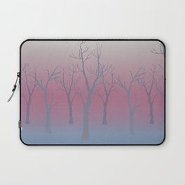 Winter landscape with trees Laptop Sleeve