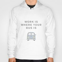 vw bus Hoodies featuring VW Bus love by Old & Brave