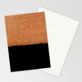 Two Tone Rust and Black Texture Stationery Cards