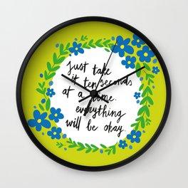 Ten Seconds - Lime Wall Clock