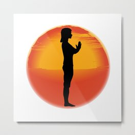 Salutation Yoga Pose Metal Print