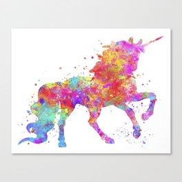 Watercolor Unicorn Canvas Print