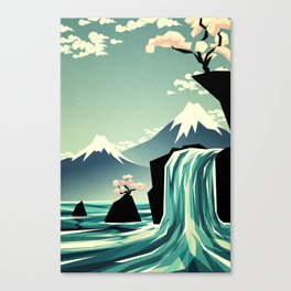 Waterfall blossom dream Canvas Print