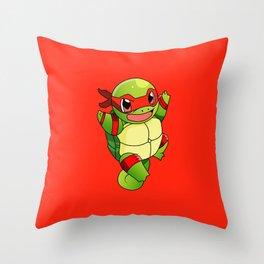 TMNT_POKET_MONSTER_RED Throw Pillow