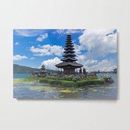 Pura Ulun Danu Bratan Temple in Bali Metal Print