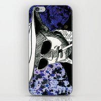 hunter s thompson iPhone & iPod Skins featuring Hunter S. Thompson, Bat Country by Abominable Ink by Fazooli