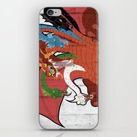 dungeons and dragons iPhone & iPod Skins featuring DUNGEONS & DRAGONS - TIAMAT by Zorio