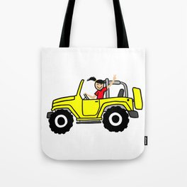 Wave yellow Side view Tote Bag