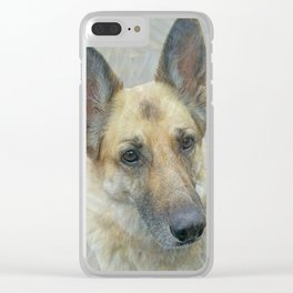 Unconditional Love Holly German Shepard Clear iPhone Case