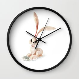 Arctic Hare Wall Clock