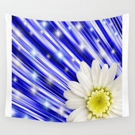 White Daisy Flower art by Saribelle Rodriguez Wall Tapestry