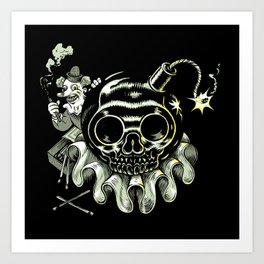 la craneo bomba Art Print