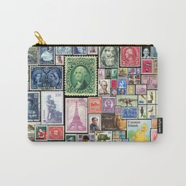 Stamps  |  Collage Carry-All Pouch