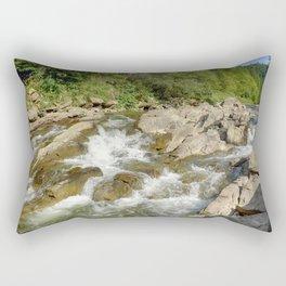 Blue whirlpools waterfall Rectangular Pillow