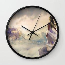 Magical Bride Wedding Fantasy Castle Wall Clock