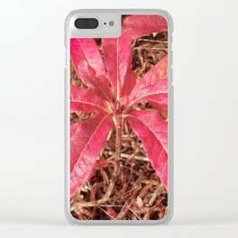 Autumn Colored Leaves Clear iPhone Case