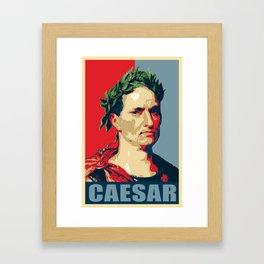 Caesar Political Propaganda Pop Art Framed Art Print