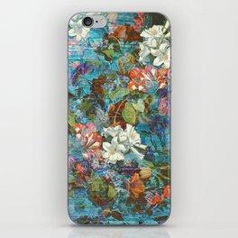 Shabby chic funky boho flowers iPhone Skin